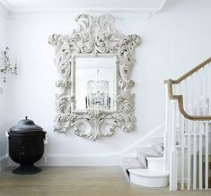 MIRROR!!! Is there any wall reinforced enough for this to hang. Georgeous!