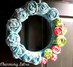 Charming Zebra: Cutesy Spring Wreath