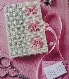 Nosegay Needle Book Plastic Canvas Pattern
