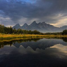 Smoke from the Berry fire and a light rain at the Teton range.