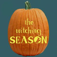"""One of 700+ FREE stencils for pumpkin carving and more! www.pumpkinlady.com """"The Witching Season""""#FreePumpkinCarvingPattern"""