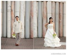 The groom in traditional barong tagalog and grey pants - I want this look for my groom but with more of a tan pant. Barong Wedding, Wedding Groom, Wedding Wear, Bride Groom, Our Wedding, Wedding Dresses, Wedding Blush, Wedding Stuff, Laid Back Wedding