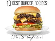 10 Best Burger Recipes + 3 Vegetarian Too! | www.inspirationformoms.com #bestburgers #vegetarianburgers #burgerrecipes