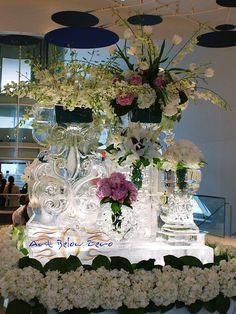 GORGEOUS   Fabulous Ice Vases B ice sculpture by Art Below Zero, via Flickr