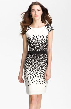 Scatter Print Ponte Sheath Dress