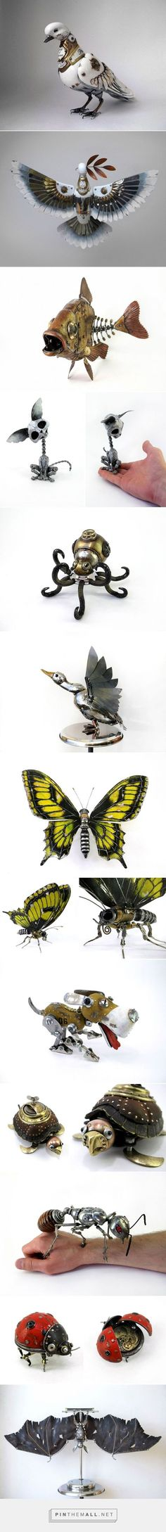 Russian Artist Creates Steampunk Animals From Old Car Parts, Watches And Electronics   Bored Panda... - a grouped images picture - Pin Them All