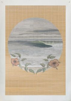 #Bamboo #canvasprint #SurfVintage#seascape#beachinterior#sustainableart#coastallandscape#bamboomat#mutedpalette#scenicpainting#hibiscus#tidalswell Heart Canvas, Hibiscus, Mother Nature, Wall Murals, My Heart, Bamboo, Palette, Waves, Canvas Prints