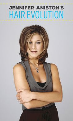 """Jennifer Aniston is known for her hair, specifically """"The Rachel"""" hairstyle that she debuted on Friends that prompted throngs of copycats. Though she's rejected that particular hairdo, saying she'd rather shave her head than get the famous cut… Peinados Jennifer Aniston, Jennifer Aniston Wedding, Jennifer Aniston Hair, Jenifer Aniston, Rachel Green, 90s Hairstyles, My Hairstyle, The Rachel Hairstyle, Rachel Haircut"""