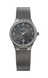 Buy Skagen Charcoal Mesh with Glitz Women's watch #630SMM1 Watchzone.com
