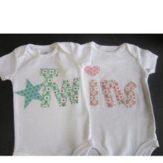 David Bowie Inspired Twin Baby Onesie Bundle//Grey Infant Bodysuit Twins Set