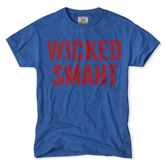 Boston Wicked Smaht T-Shirt in crimson and blue!