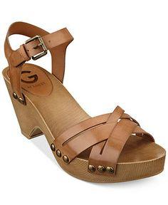 G by GUESS Women's Jackal Platform Clog Sandals - Sandals - Shoes - Macy's
