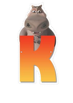 Hippo letter K. Madagascar Party, Penguins Of Madagascar, Childrens Alphabet, Cute Alphabet, Craft Party, Birthday Party Decorations, Movie Theater Rooms, Dreamworks Movies, Letter L