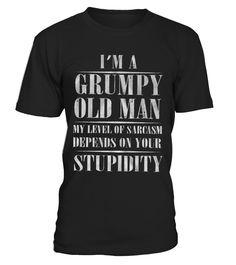 Grumpy Old Man  #image #grandma #nana #gigi #mother #photo #shirt #gift #idea