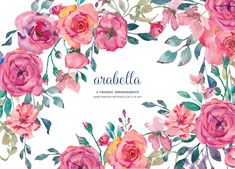 50% OFF Watercolor Rose Clip Art by PatishopArt on @creativemarket