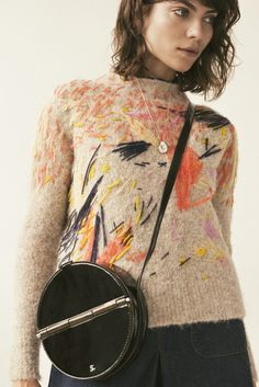 We have our sights set on this statement embroidered sweater from Rachel Comey. The sweater is such a work of wearable abstract art. The perfect mix of unique, stylish and comfortable. Embroidered clothing can be so chic. Boro, Knit Fashion, Pullover, Refashion, Pulls, Diy Clothes, Knit Crochet, Crochet Granny, Ideias Fashion