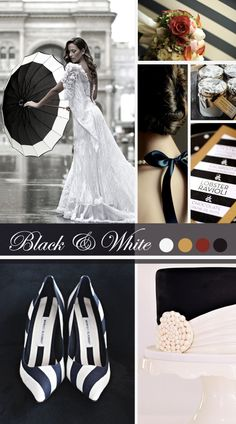 Black & White Wedding Inspiration | Vintage Tea Roses