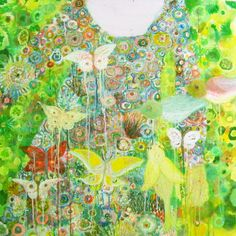Robe jardin painting on canvas by Valérie Belmokhtar