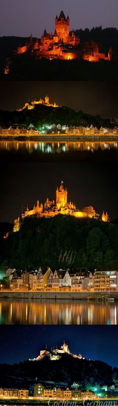 Cochem, Germany I've actually been there and toured the castle, but I'd gladly go back!