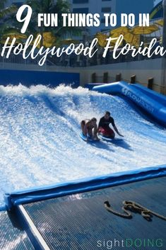 Hollywood FL is a great destination even if you're short on time. This itinerary shares Hollywood Beach Florida things to do, where to stay and what to eat. Dc Travel, Florida Travel, Florida Beaches, Florida Vacation, Family Travel, Fort Lauderdale Things To Do, Hollywood Beach Florida, Learn To Surf, Vero Beach