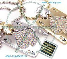 fashion poker flash drives jewelry novelty card memory sticks promotional usb key gift necklace 2gb