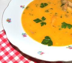 #reteta #supa crema de legume cu ciuperci Thai Red Curry, Soup Recipes, Soups, Diet, Ethnic Recipes, Food, Loosing Weight, Soup, Meals
