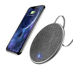 Fast Wireless Charging Pad, Auckly 10W Jean Fabric Wireless Charger for iPhone 8/ 8 Plus/ X and Samsung Galaxy Note8/ Note5/ S8/ S8 Plus/ S7/ S7edge/ S6/ S6 edge, Nexus 4/5/6/7, LG and Other Qi Ena #Fast #Wireless #Charging #Pad, #Auckly #Jean #Fabric #Charger #iPhone #Plus/ #Samsung #Galaxy #Note/ #Sedge/ #edge, #Nexus #///, #Other