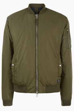 Penfield Thurman Olive Military Style Wadded Bomber