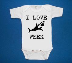 I LOVE SHARK week baby onesie