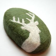 MADE TO ORDER Felted Soap with White Deer  Men Soap by SoFino, $18.00