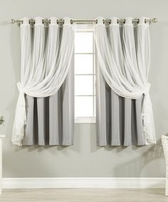 The fashionable, feminine style of the Best Home Fashion Mix & Match Tulle Sheer Lace Blackout Curtain - Set of 4 takes any room from mundane to. Short Curtains Bedroom, Short Window Curtains, Home Curtains, Sheer Curtains, Blackout Curtains, Panel Curtains, Curtain Panels, Curtain Valances, Curtain Styles