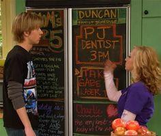 Chalkboard Fridge on Good Luck Charlie