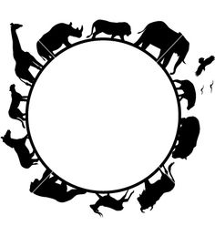 Animal africa silhouette vector image on VectorStock Silhouette Tattoos, Silhouette Painting, Silhouette Vector, Silhouette Projects, Africa Silhouette, Animal Silhouette, Graduation Cap Designs, Graduation Caps, College Graduation