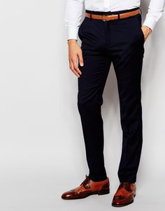 "Suit trousers by French Connection Woven fabric Zip fly with hook and bar fastening Side pockets and two back pockets Slim fit - cut closely to the body Dry clean 80% Polyester, 20% Viscose Our model wears a 32""/81 cm regular and is 185.5cm/6'1"" tall"
