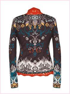 Ivko bolero jacket Merino extrafine brown - back view