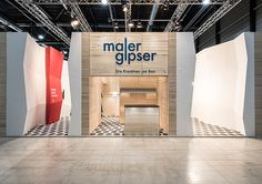 The booth of the Swiss association of painters and plasterers at appli-tech 2015, Lucerne designed by Konform