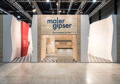 Messeauftritt des Dachverbands Maler und Gipser (SMGV) an der Applitech. Design by Konform. Luzern, 2015