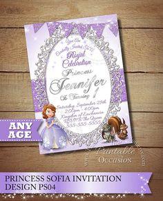 Sofia the First Invitation Princess Photo por ThePrintableOccasion