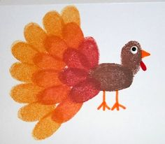Fingerprint Turkey - The Crafty Crow