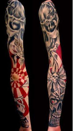 realistic trash polka tattoos Manga Tattoo, Anime Tattoos, Body Art Tattoos, Cool Tattoos, Tattoo Art, Trash Polka Tattoos, Tattoo Trash, Sweet Tattoos, Tattoos For Guys