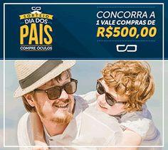 Sorteio Dia dos Pais da Compre Óculos Vale Compras  de R$500,00 - Promoções Tô Dentro  ACESSE: http://www.promocoestodentro.com.br/sorteio-kits-coruja-mochila-e-porta-moeda1