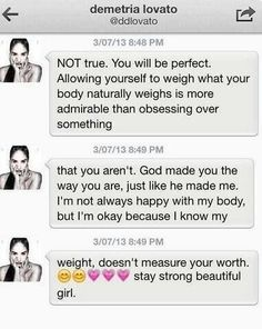 Demi's DM to a fan on twitter. she is so amazing and she is an awesome role model, I'm gonna cry xxx