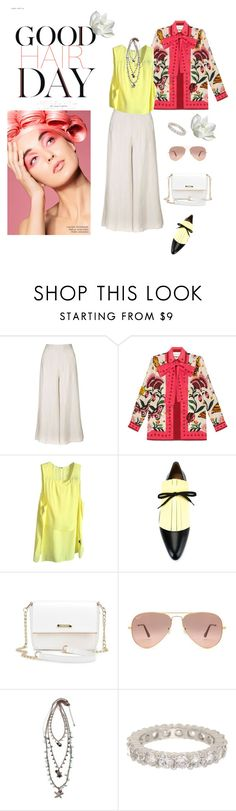 """""""Untitled #508"""" by xocolate ❤ liked on Polyvore featuring Topshop, Gucci, Alexander Wang, Marni, Ray-Ban, New Directions and Ariella Collection"""