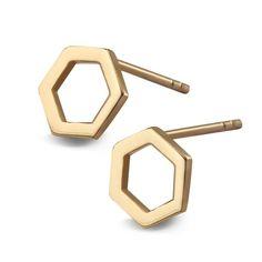 Queen B - złote kolczyki