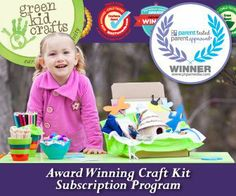 Green Kid Crafts' Award Winning Craft Kit Subscriptions #giveaway #kids #craft #sweepstakes