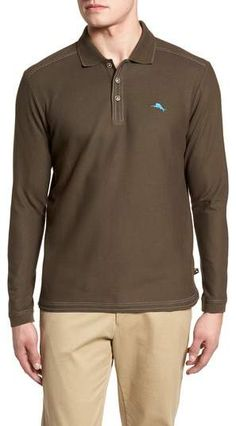 5de8ecb83978c Tommy Bahama Emfielder Long Sleeve Polo. Karavan · Mens Big And Tall Shirts  · John Varvatos Star USA Regular Fit Stretch Dobby Dress Shirt ...