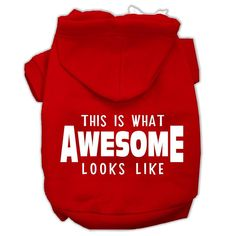This is What Awesome Looks Like Dog Pet Hoodies Red Size XXL (18)