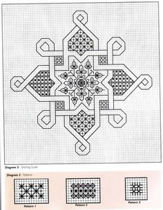 Blackwork Cross Stitch, Biscornu Cross Stitch, Blackwork Embroidery, Cross Stitch Charts, Cross Stitch Designs, Cross Stitching, Cross Stitch Embroidery, Embroidery Patterns, Cross Stitch Patterns