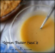 Crustless Salmon Pie w Lemon Butter Sauce: juice of one large lemon, 125 ml of cold water, cup tbsp. plain flour, 1 tbsp sugar, salt and pepper Salmon Pie, Seafood Recipes, Cooking Recipes, Dips, Lemon Butter Sauce, Marinade Sauce, English Kitchens, Sweet Sauce, Homemade Soup