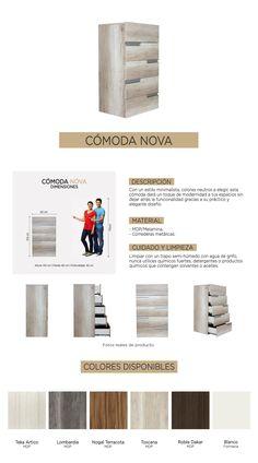 Ropero Recamaras Nova Comoda Cajonera Tocador Goca Muebles - $ 2,919.00 en Mercado Libre